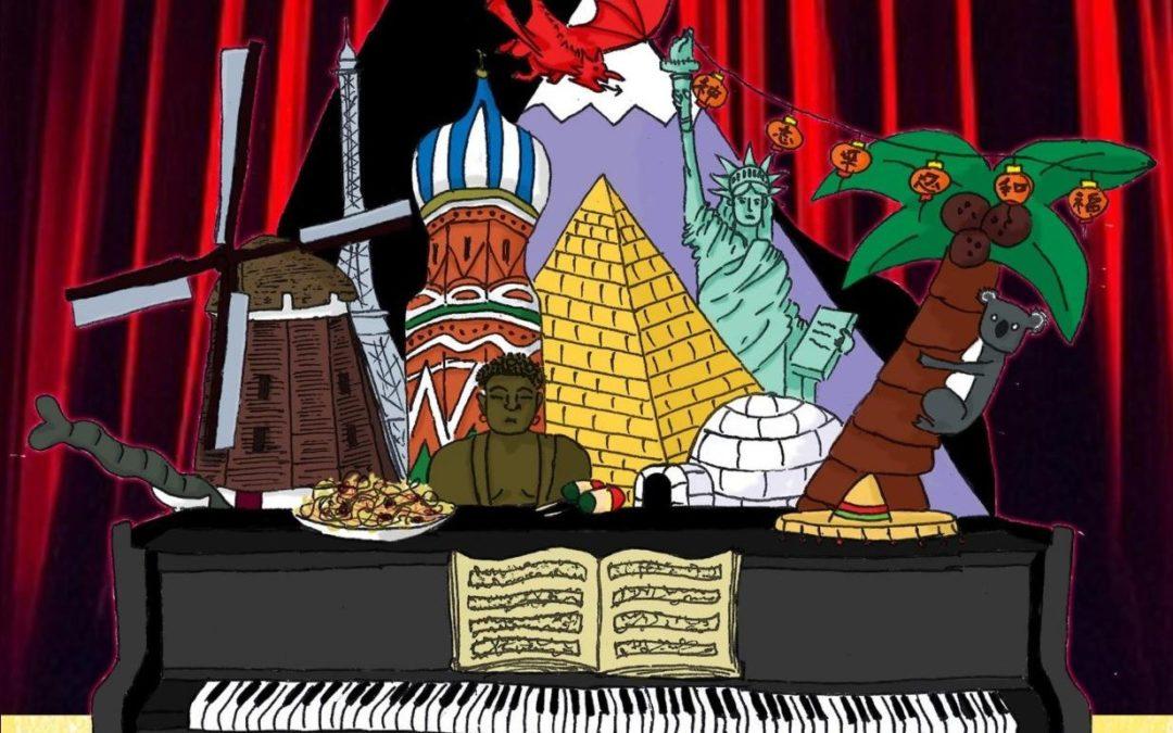 'Siwrne Gerddorol i Bedwar Ban Byd' – Tiwtoriaid Piano CGWM Mewn Cyngerdd