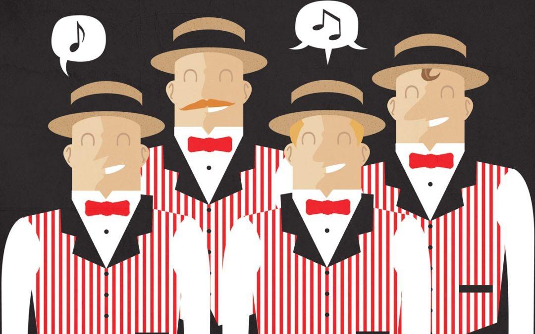 Pwy ddaw i ganu harmoni gydag un o brif gantorion Barbershop America?